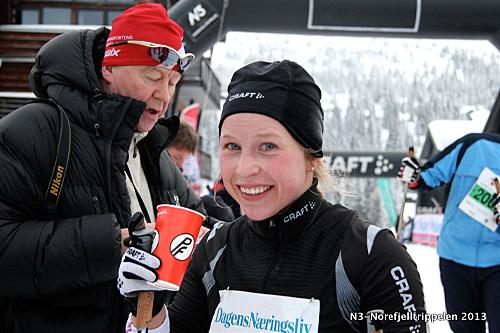 Mari Brox ble beste kvinne med klar margin i Norefjellrennet 2013. Foto: Arrangør