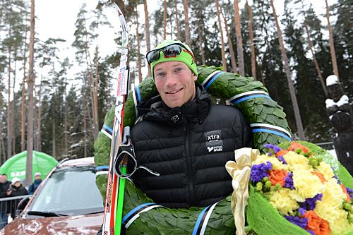 Vinner av Tartu Maraton 2013, Simen Østensen fra Team Xtra Personell. Foto: Rauschendorfer/NordicFocus
