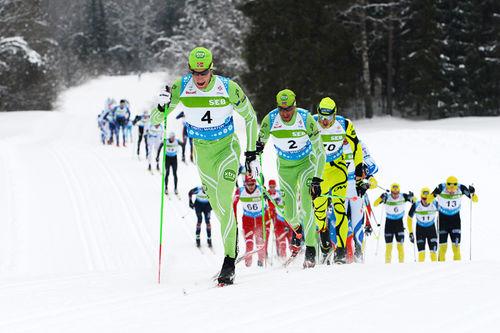Fra Tartu Maraton 2013 med Simen Østensen i spiss. Foto: Rauschendorfer/NordicFocus.