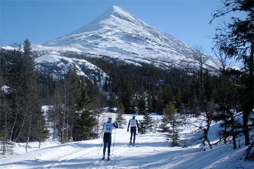 Teten i 2013-utgaven like før Selstali, etter 10-12 km av det 45 km lange Gaustaløpet. Foto: Aslak Kramviken.