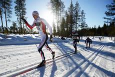Christian Gjertveit fra Team Norgeshus underveis mot en sluttid på 4 timer og 19 minutter i Vasaloppet 2013. Foto: Rauschendorfer/NordicFocus.