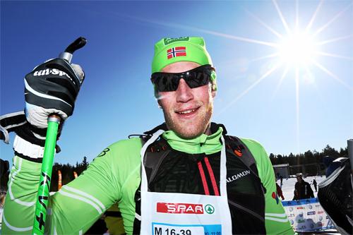 Simen Østensen sikret seieren i HalvBirken 2013 med god margin. Foto: Geir Olsen/Birken.