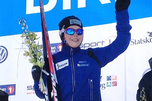 Martin Kirkeberg Mørk var den aller raskeste av løperne i UngdomsBirken i klassen for Gutter 12 år, 2013. Foto: Privat.