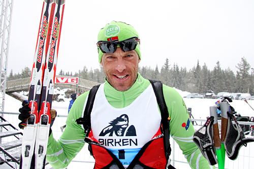 Anders Aukland avgjorde Birkebeinerrennet 2013 til sin fordel etter sterk staking de siste kilometerne inn mot mål. Foto: Geir Nilsen/Langrenn.com.