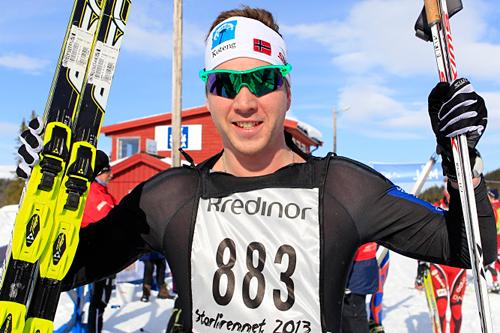 Eirik Lorentsen etter seier i Storlirennet 2013. Foto: Dag H. Karlsen