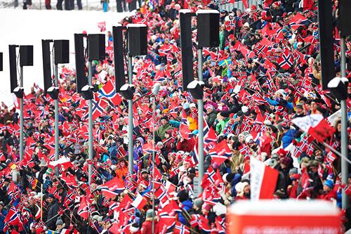 Verdenscupen i Holmenkollen et tidligere år. Foto: Felgenhauer/NordicFocus.
