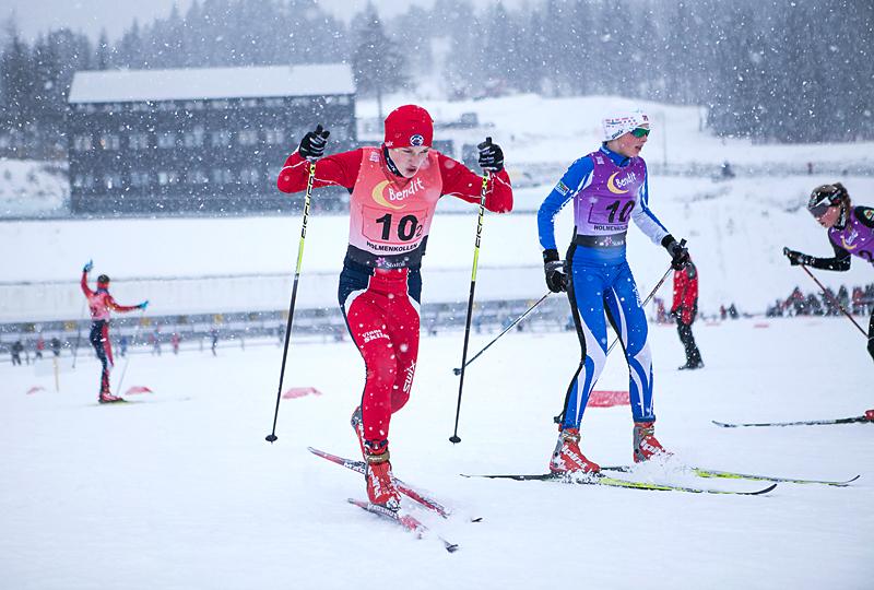 Ungdomsstafetten i Holmenkollen 2013. Foto: Rasmus Kongsøre.