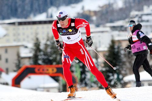 Tor Arne Hetland underveis i verdenscupen i Davos 2008. Foto: Casanova/NordicFocus.