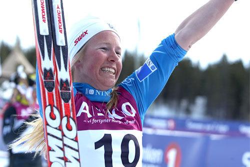 Silje Øyre Slind gikk inn til NM-bronse da norgescupen 2012-2013 ble avsluttet med 30 km på Budor. Foto: Erik Borg.