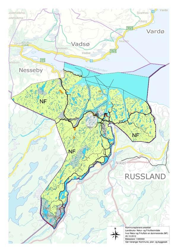 varanger kart Varsel om mindre endring av Kommuneplanens arealdel, bestemmelser  varanger kart