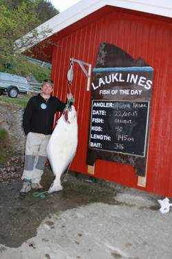 asgeir kaldhol, halibut 40Kg