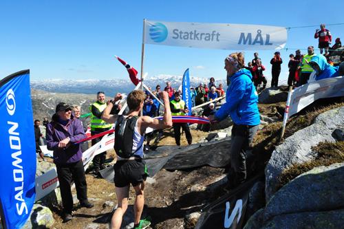 Øystein Sylta viste muskler og vann Norgescupløpet Hovlandsnuten Opp i Sauda i et tidligere år. Foto: Per Inge Fjellheim.