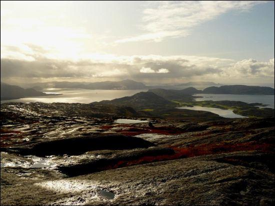 utsikt fra kjørsvikfjellet