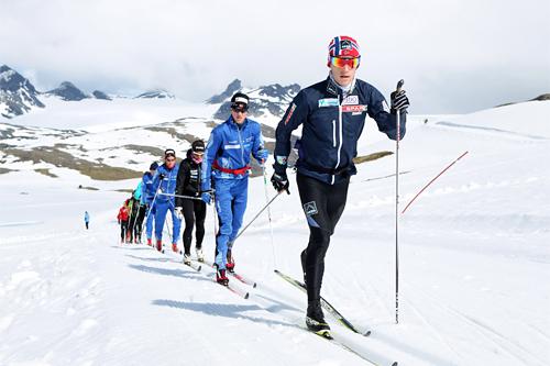 Petter Eliassen på Sognefjellshytta under landslagets samling i juni 2013. Foto: Erik Borg.