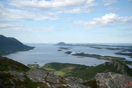 kjølsfjellet med utsikt over torghatten