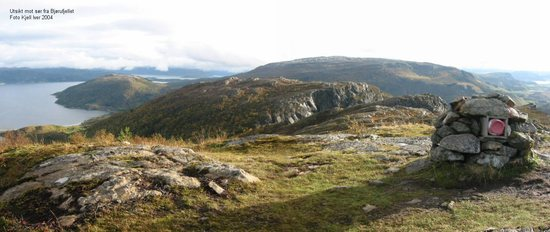 utsikt mot sør fra bjørufjellet