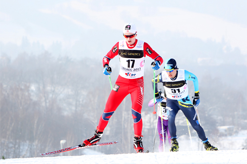 Vebjørn Turtveit i junior-VM i Liberec 2013. Foto: Erik Borg.