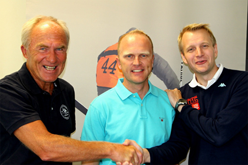 Jostein Buraas (i midten), her fra da han ble sportssjef for Ungdoms-OL på Lillehammer. Flankert av Bjørgulv Noraberg (til venstre) og Tomas Holmestad. Foto: Ungdoms-OL 2016.