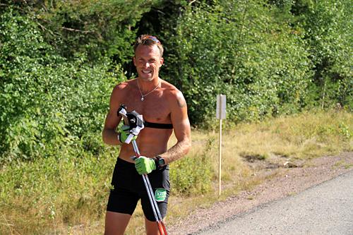 Anders Aukland under Team Centric, som da het Team Xtra Personell, sin sommersamling i 2013. Foto: Nils Marius Otterstad.