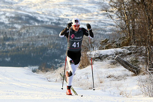 Ringkollen-løper Eirik Sverdrup Augdal vant 15 km klassisk for junior under Beitosprinten 2013. Foto: Erik Borg.