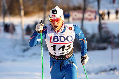 Marin Johnsrud Sundby åpnet sesongen på mesterlig vis gjennom å sette konkurrentene på plass i Beitosprinten 2013 sin 15 km i klassisk stil. Foto: Geir Nilsen/Langrenn.com.