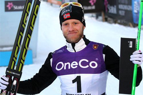 For andre dag på rad ble det seier til Martin Johnsrud Sundby under Beitosprinten 2013, denne gang på 15 km fri teknikk. Foto: Geir Nilsen/Langrenn.com.