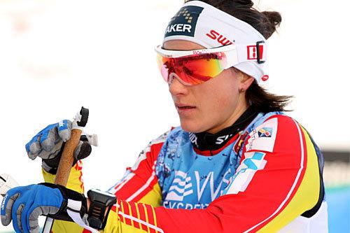 Heidi Weng gikk fra alle konkurrenter i Flyktningerennet 2014. Foto: Geir Nilsen/Langrenn.com.