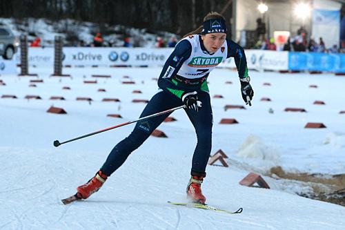 Celine Brun-Lie var raskeste jente i sprintprologen på Beitostølen i 2013. Foto: Erik Borg.