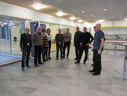 Komiteen fikk en omvisning i bygget og de var imponert over resultatet.