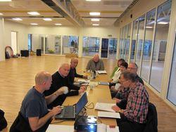 Siste møte for plan og byggekomiteen i forbindelse med oppføring av Lundbadet
