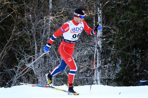 Petter Soleng Skinstad underveis på 15 km klassisk i Beitosprinten 2013. Foto: Erik Borg.