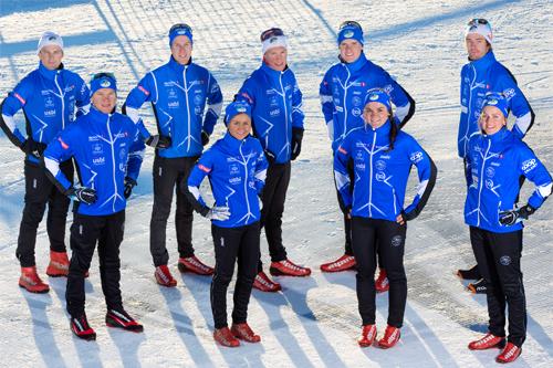 Løpere fra Lillehammer Skiklub og Team Coop Talent. Foto: Geir Olsen.