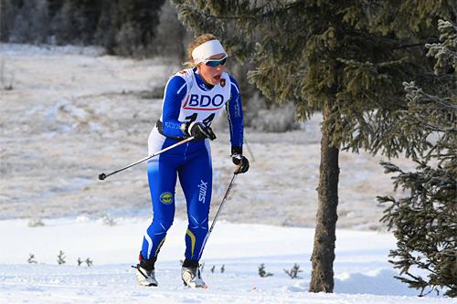 Merete Myrseth underveis på 10 km klassisk i Beitosprinten 2013. Foto: Erik Borg/Langrenn.com.