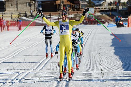 John Kristian Dahl går inn til seier i La Sgambeda Classic 2013. Foto: Rauschendorfer/NordicFocus.