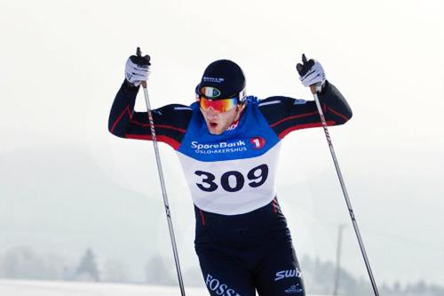 Håvard Berteig fra Persbråten Vgs. Idrett, Foto Andreas Kvale.