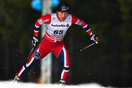 Marit Bjørgen underveis i første etappe av Tour de Ski 2013/2014, prologen i Oberhof. Foto: Felgenhauer/NordicFocus.