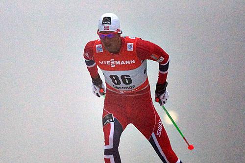 Chris Jespersen gikk inn til tredjeplass på prologen som innleder Tour de Ski 2013/2014. Foto: Felgenhauer/NordicFocus.