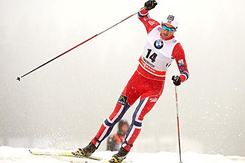 Petter Northug jr. ute på sprint-prologen under 2. etappe av Tour de Ski 2013-2014. Foto: Felgenhauer/NordicFocus.