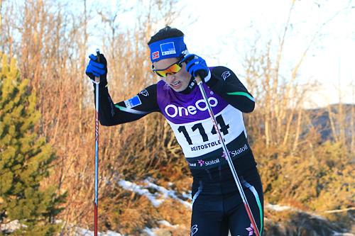 Morten Harjo Pettersen ute på 15 km fristil i Beitosprinten 2013. Foto: Geir Nilsen/Langrenn.com.