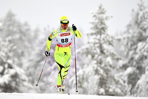 Katja Visnar i verdenscupen i Kuusamo i november 2013. Foto: Felgenhauer/NordicFocus.