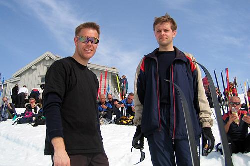 Ledelsen i Sirdal Skimaraton, Bjørn Tore Haugen og Lars Vagle. Foto: Arrangør.