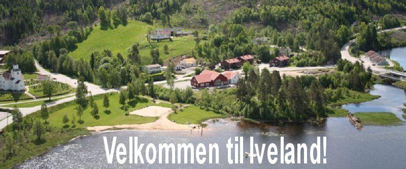 Velkommen til Iveland! På bildet ser vi noe av Birketveit med badeplass og friområde. Velkommen til Iveland kommune - et godt sted å bo!