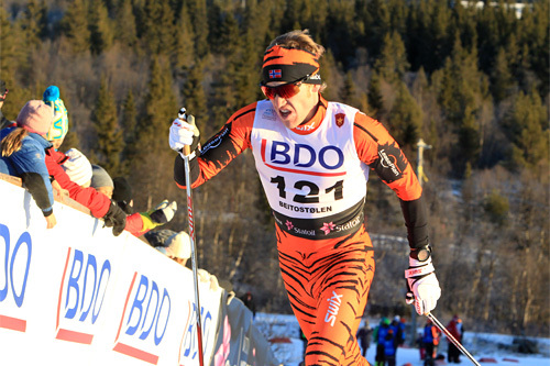 Per Kristian Nygård ute på 15 km klassisk i Beitosprinten 2013. Foto: Erik Borg/Langrenn.com.
