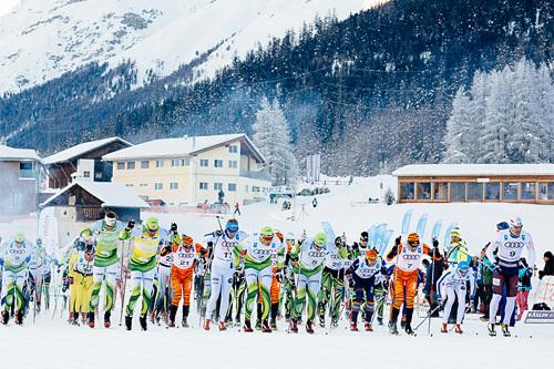 La Diagonela i Sveits inngår i Visma Alp Trophy. Foto: Magnus Östh/Visma Ski Classics.