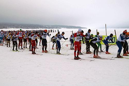 Fra starten i Trysil-Knut Rennet. Foto: Søre Osen IL.