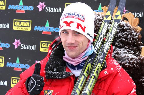Stian Remseth Andresen gikk en meget god 15 kilometer under NM på Lillehammer 2014 og ble på tidlig startnummer sittende i GULL-stolen langt over halvtimen. Til slutt ble det en svært hyggelig 13. plass. Foto: Geir Nilsen/Langrenn.com.