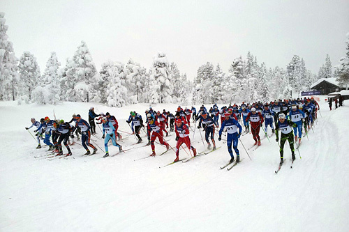 Fra starten av Vikerfjelløpet 2014. Foto: Arrangør.