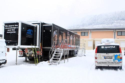 Norges Skiforbunds første smøretrailer. Foto: Erik Borg.