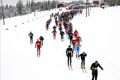 Fra starten i Stenfjellrunden 2014. Arrangørfoto.