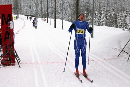 Astrid Ruud vant kvinneklassen i Stenfjellrunden 2014. Foto: Arrangør.